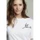 Camiseta SPACE FLAMINGO Bordado BLANCO