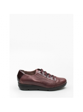 Zapatos WONDERS BURDEOS elásticos VINO