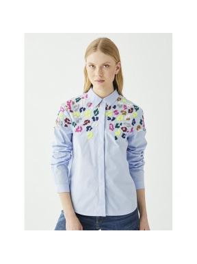 Camisa VILAGALLO Sonia BLUE POPLIN