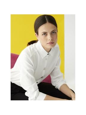 Camisa VILAGALLO Isabella WHITE CHEVRON