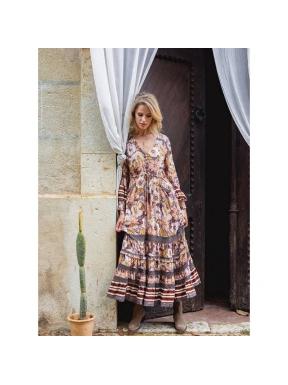 Vestido Largo ALBA Print Lela MULTICOLOR