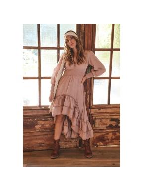 Vestido Largo GAIA Print Divine NUDE