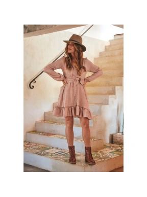 Vestido Corto GAIA Print Lizzie NUDE