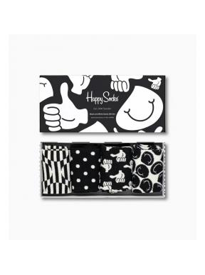 HAPPY SOCKS 4 Pack Like Black 36/40