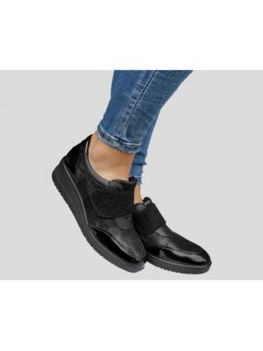 Zapato IMAC Cuña Velcro Combi NEGRO