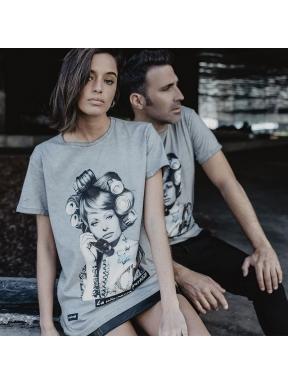 Camiseta BE HAPPINESS Sophia Loren GRIS