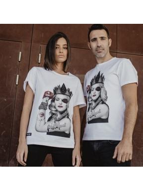Camiseta BE HAPPINESS Madonna BLANCO