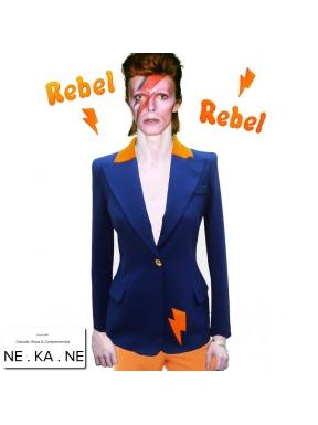 Blazer U DO IT Bowie AZUL con NARANJA