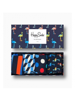 HAPPY SOCKS 4 Pack Navy Socks 36/40