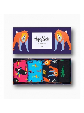 HAPPY SOCKS 4 Pack Animal 41/46
