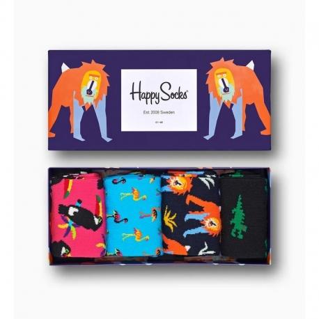 HAPPY SOCKS 4 Pack Animal 41/46