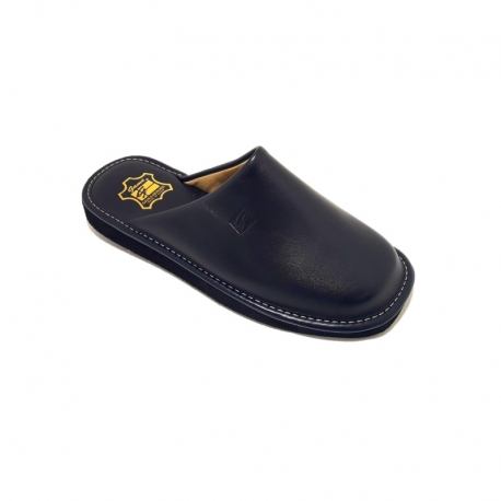 Zapatillas GAME 16001Chinela Piel MARINO