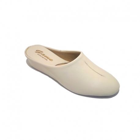 Zapatillas GAME 730 Chinela Piel BEIGE