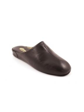 Zapatillas GAME 710 Chinela Piel MARRÓN