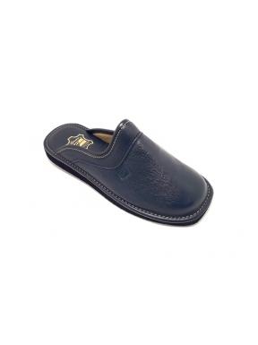 Zapatillas GAME 16002Chinela Piel MARINO