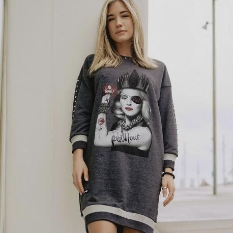 Vestido Tachas BE HAPPINESS Madonna GRIS