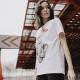 Camiseta BE HAPPINESS Audrey BLANCO