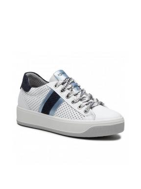 Sneakers IGI&CO Perforada BLANCO/AZUL