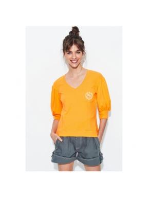Camiseta Pico HPREPPY Escudo NARANJA