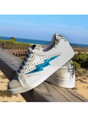 Sneakers CAMBILI ThunderGirl Silver BLUE