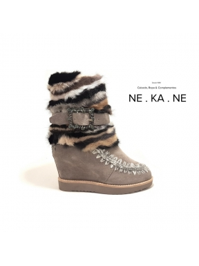 Botas MOU French Toe Wedge Mink&Buckle