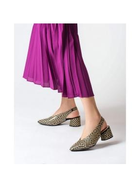 Zapato Tacón WONDERS Trenzado NEGRO