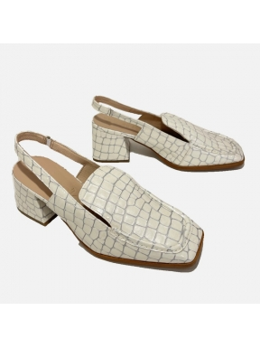 Zapato WONDERS Coco Charol BLANCO