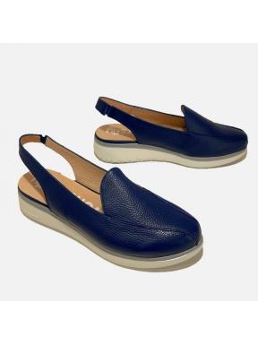 Zapato Destalonado WONDERS Piel AZUL