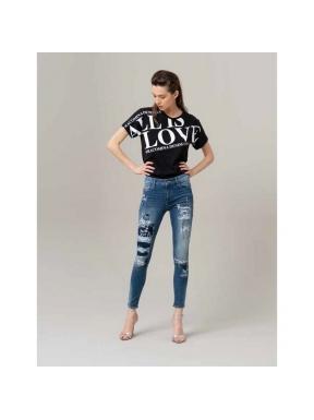Jeans FRACOMINA Bella Prints y Pedrería