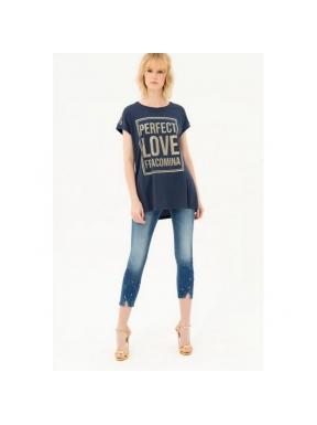 Camiseta FRACOMINA Perfect Love MARINO