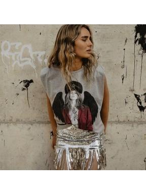 Camiseta BE HAPPINESS Claudia Schif GRIS