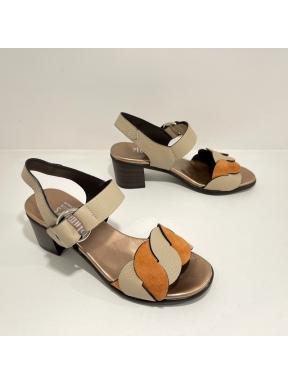 Sandalia Velcro PLUMERS Combi OndasTAUPE