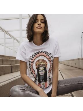 Camiseta BE HAPPINESS Pepa Flores India
