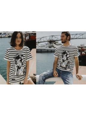 Camiseta BE HAPPINESS Sophia Loren Rayas