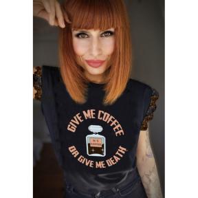 Camiseta LaSAL Coffee NEGRO