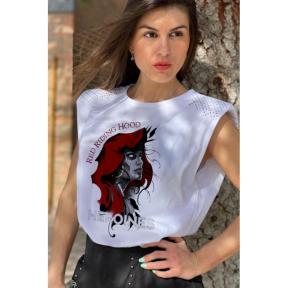 Camiseta LaSAL Hood Heroines BLANCO