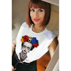 Camiseta LaSAL Frida Heroines BLANCO