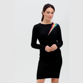 Vestido Evie SUGARHILL Relámpago NEGRO