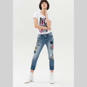 Jeans Cara FRACOMINA Parches TEJANO