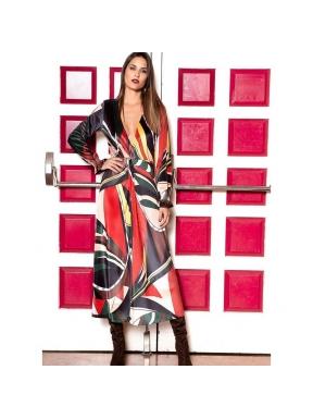 Vestido SAHOCO Midi Terciopelo Delaunay