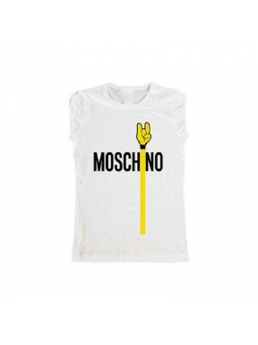 Camiseta FUCK YOUR FAKE MoschiNo BLANCA