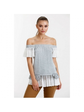 Camiseta HIGHLY PREPPY Punto Lace GRIS