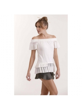 Camiseta HIGHLY PREPPY Punto Lace CRUDO