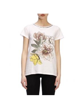 Camiseta TWINSET Tachas Estampada BLANCO