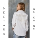 Camisa Bordada INDOTARA Fly S42 BLANCA