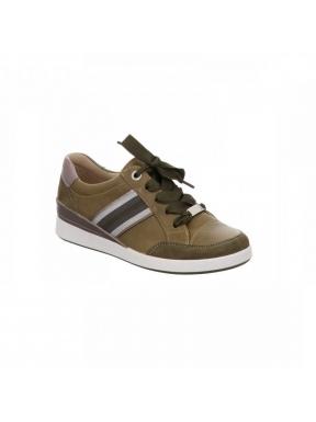 Sneaker Lazo ARA Banda Lurex Piel SALVIA