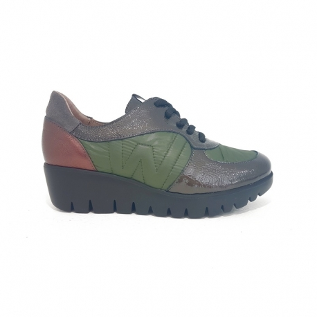 Sneakers WONDERS Combi Charol KAKI
