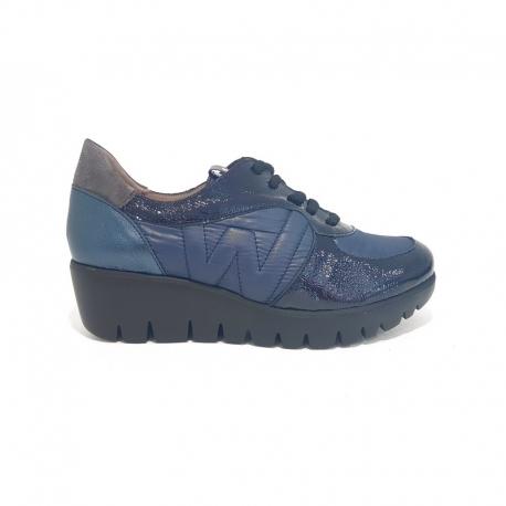 Sneakers WONDERS Combi Charol MARINO