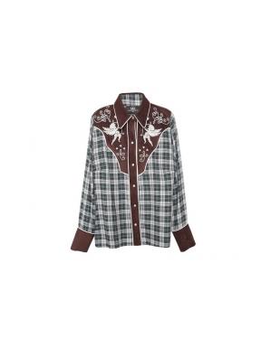 Camisa GUTS&LOVE Touché Plaid KAKI