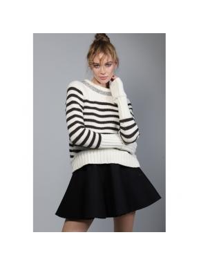 Jersey GUTS&LOVE Stripes & Bling CRUDO